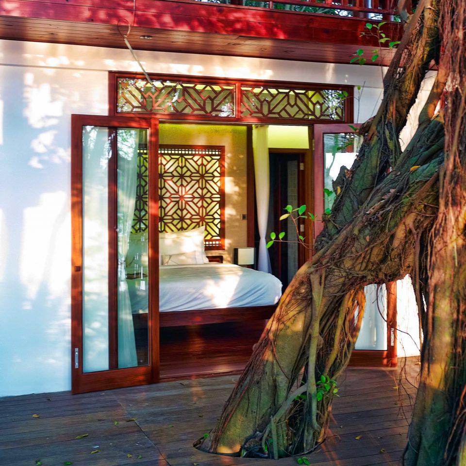Bedroom Cultural Eco Elegant Jungle Nature River Terrace Villa Waterfront color house building temple
