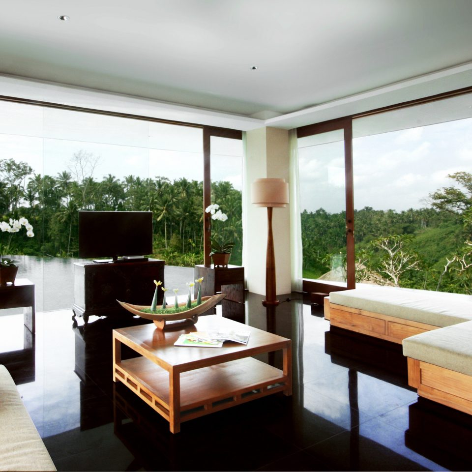 Cultural Eco Jungle Modern Resort Scenic views Villa Wellness property living room orange house condominium home Suite cottage Bedroom
