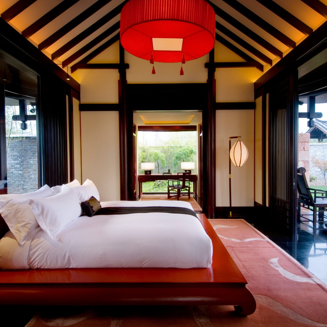 Bedroom Cultural Luxury Modern Suite property Resort red home living room Villa condominium