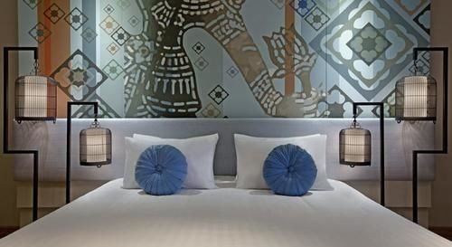 mural flooring pillow curtain wallpaper living room Bedroom