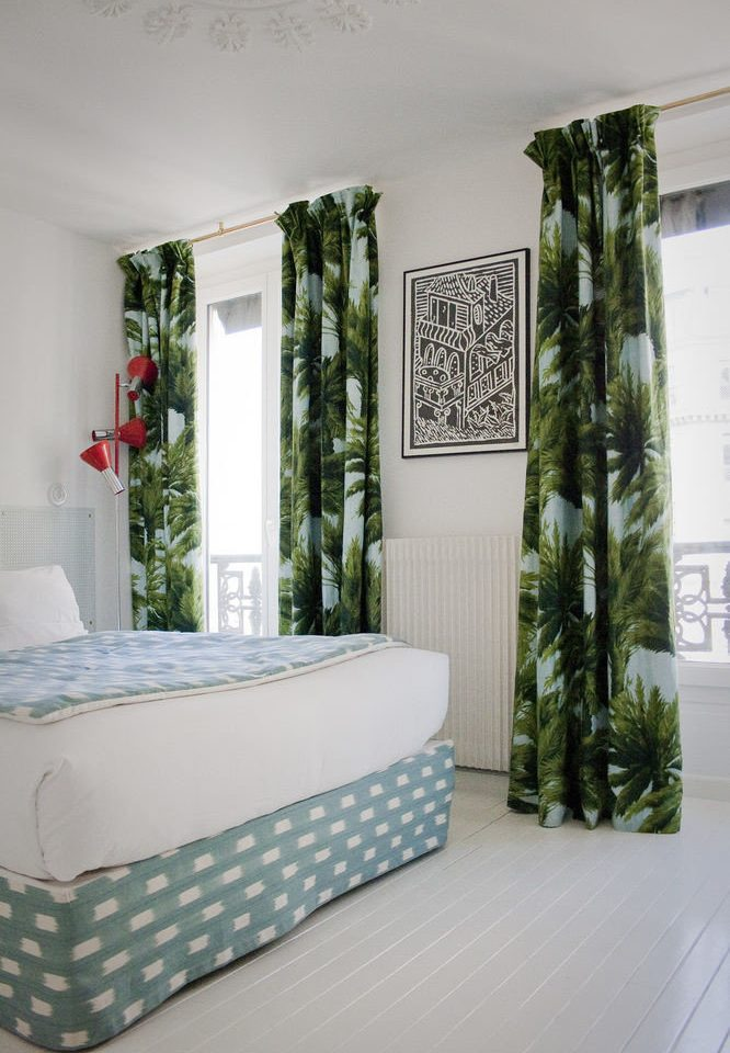 green white curtain living room Bedroom textile window treatment