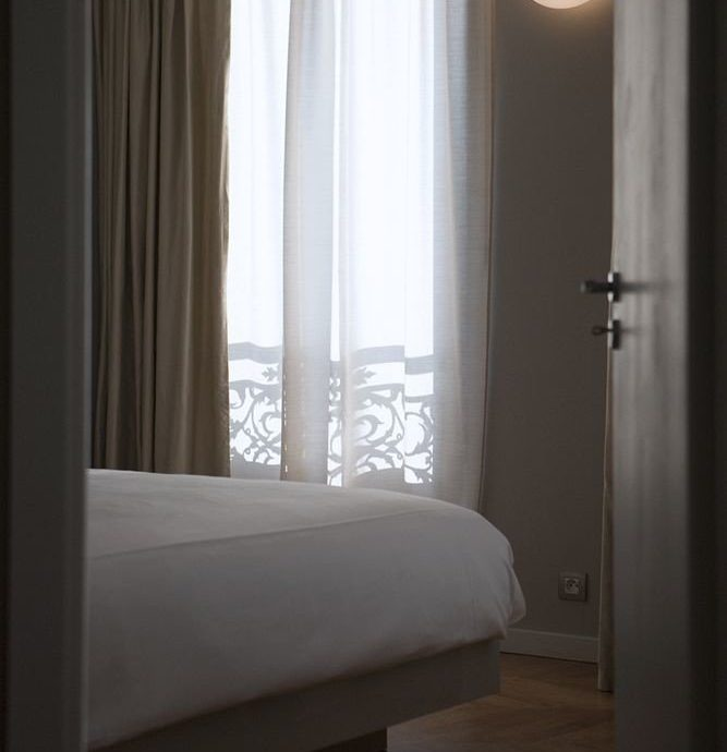 Bedroom curtain home textile window treatment lamp
