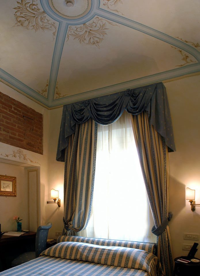 Bedroom property curtain living room window treatment lamp
