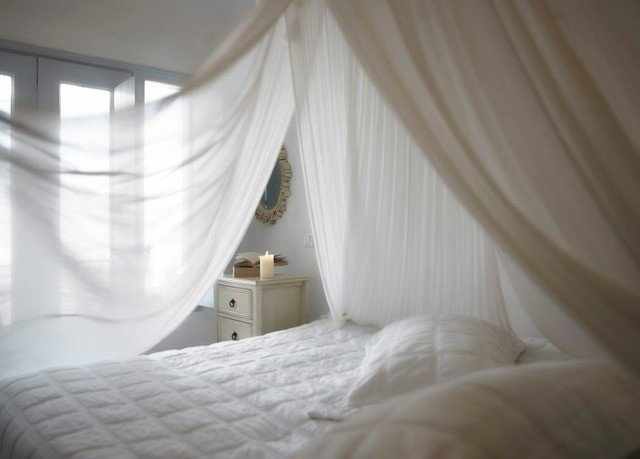 curtain property Bedroom white mosquito net textile