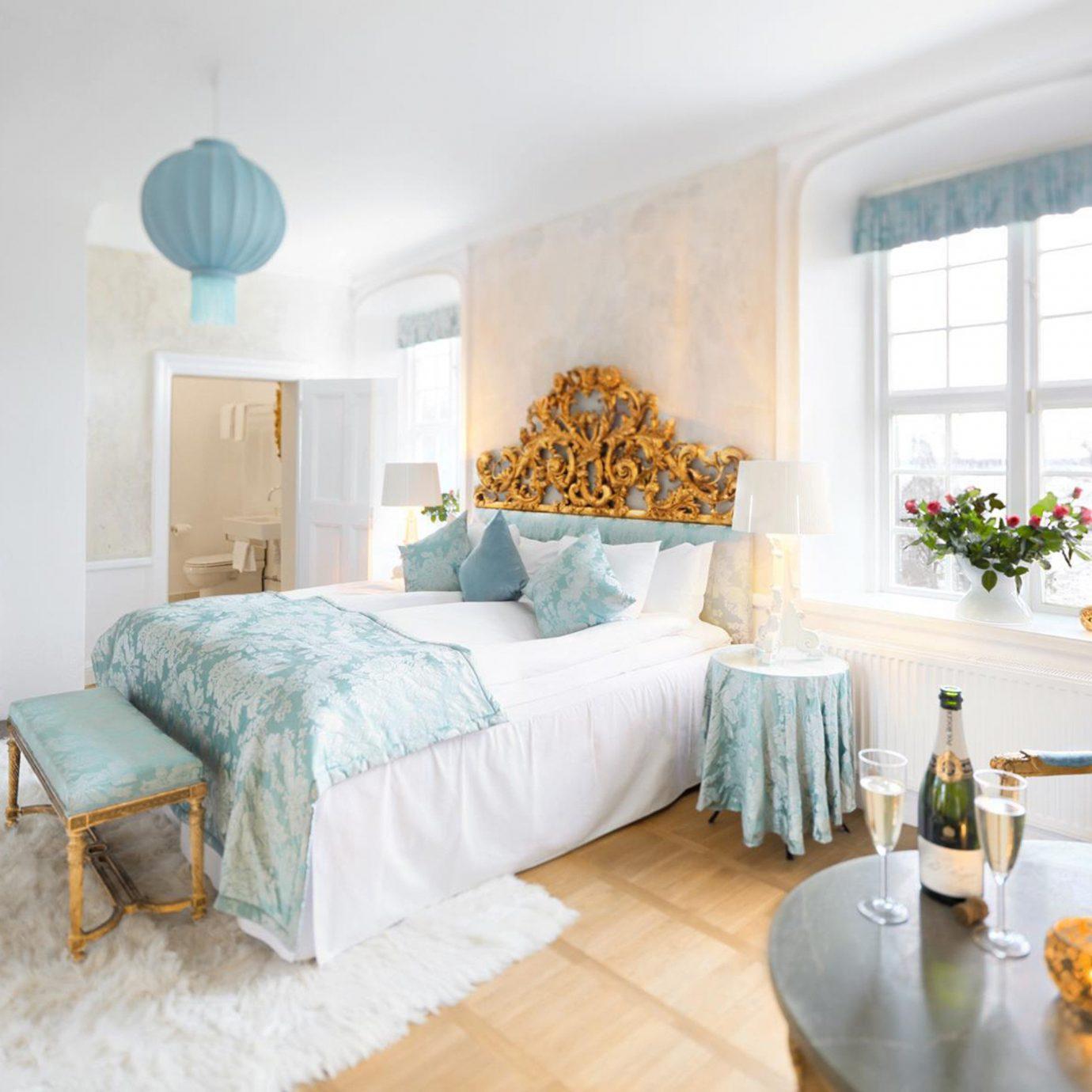 Denmark Finland Hotels Landmarks Luxury Travel Sweden property Bedroom living room home cottage Suite Villa farmhouse