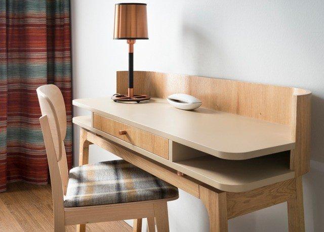 desk hardwood wooden shelf Bedroom dining table