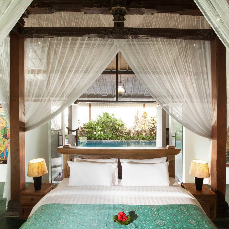 Bedroom Eco Elegant Jungle Luxury Pool Resort Villa property green house cottage farmhouse home mansion living room