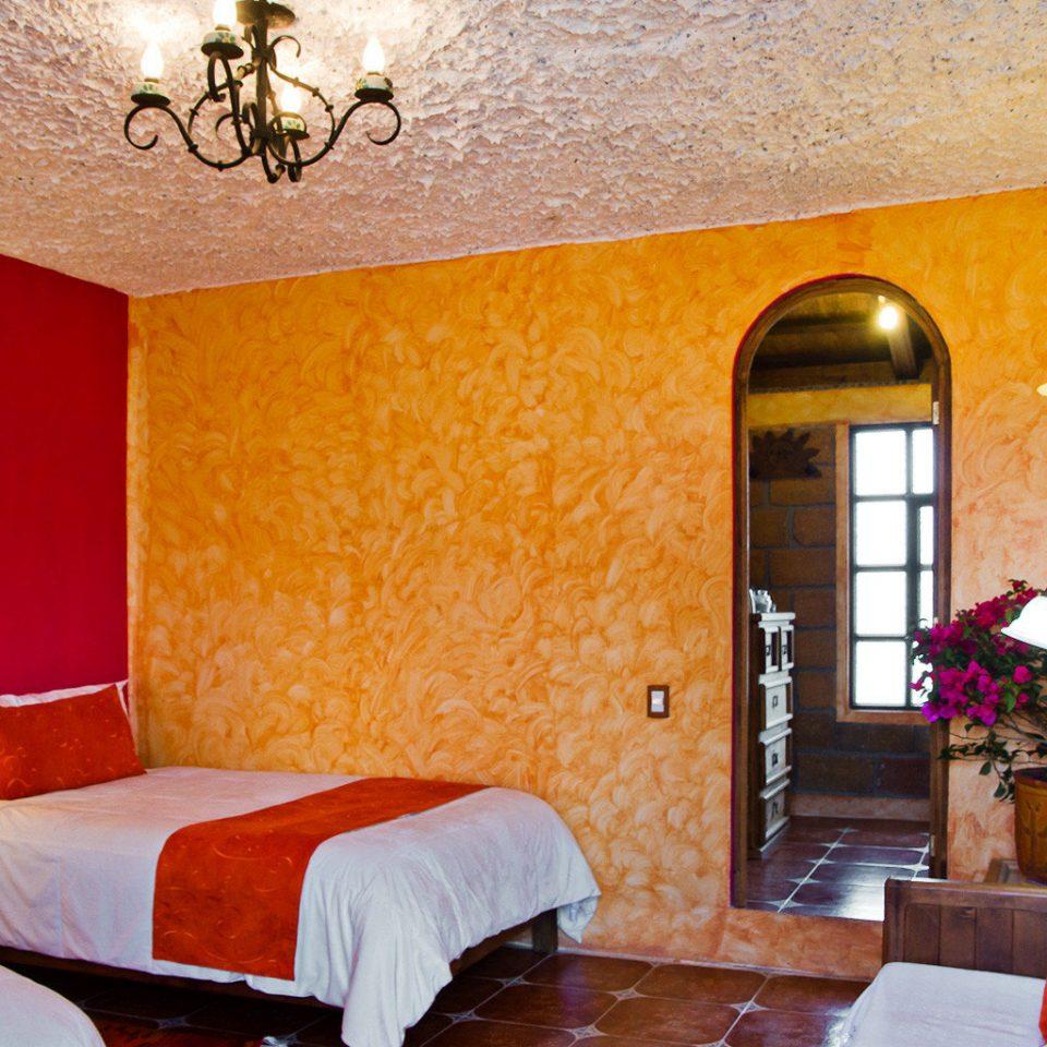 Bedroom Eco property Suite cottage orange living room Villa