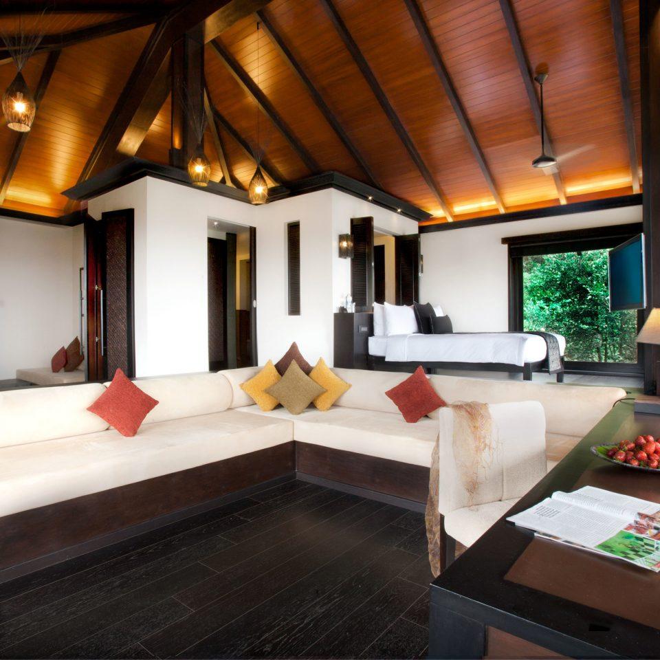 Bedroom Elegant Fireplace Forest Lounge Luxury Scenic views Suite property living room Lobby recreation room home Resort billiard room Villa