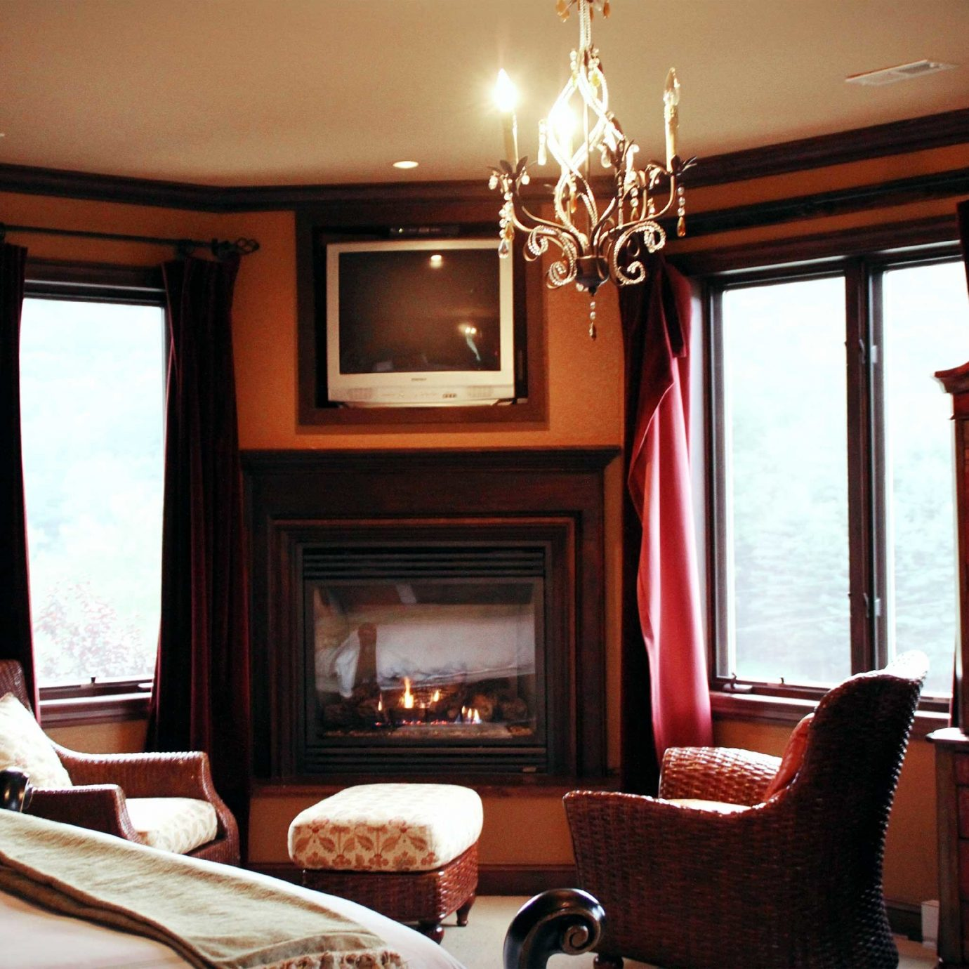 Bedroom Elegant Fireplace Lounge Modern Winery property living room Suite home cottage