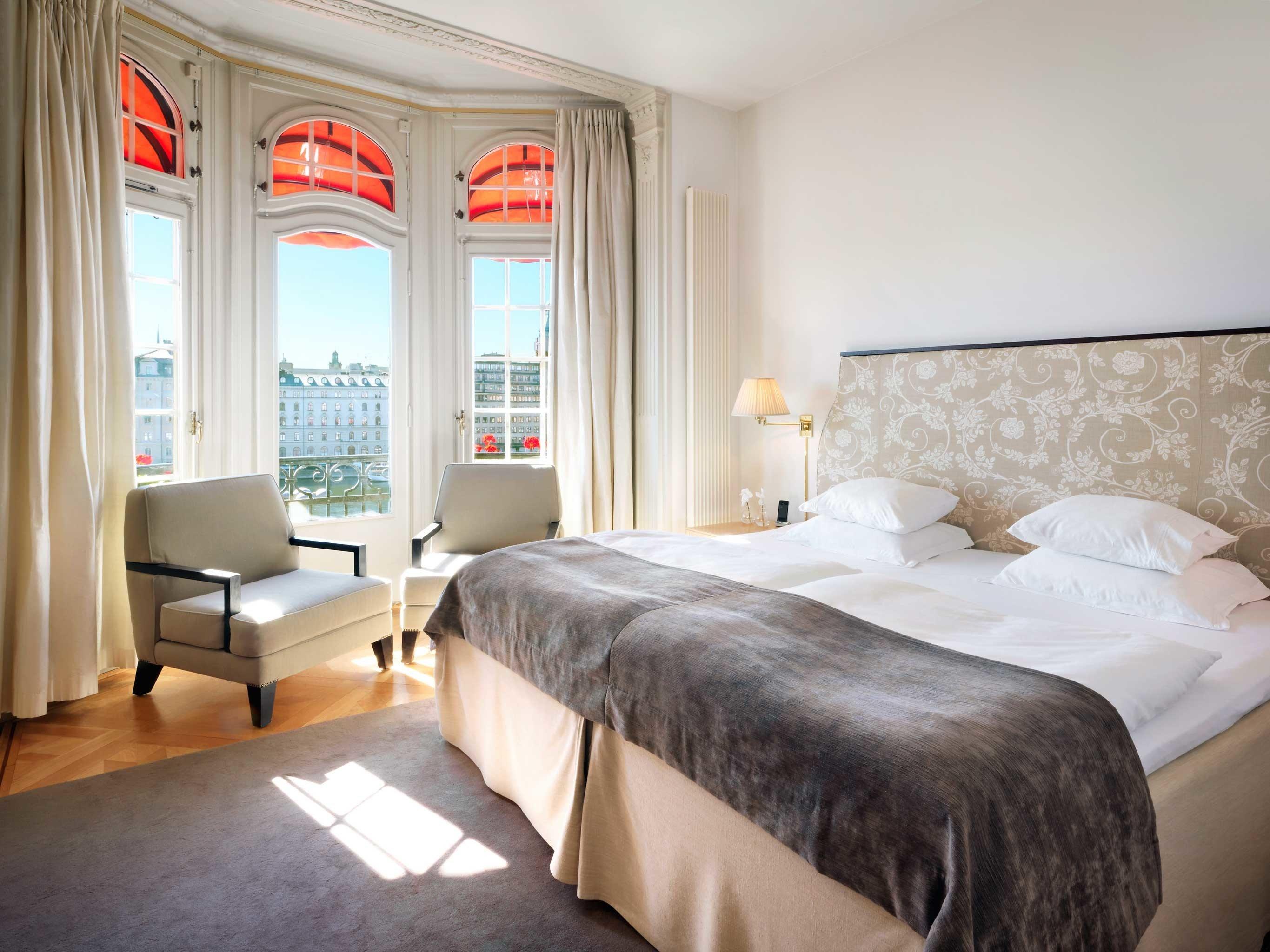 Bedroom Elegant Hip Hotels Modern Scenic views Stockholm Sweden property scene Suite home cottage