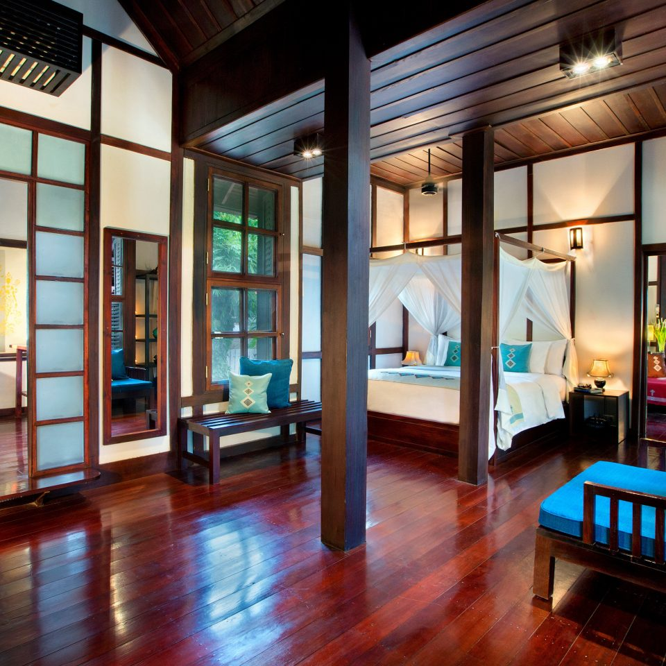 Bedroom Elegant Hip Luxury Modern Suite property building home house living room mansion condominium Resort Lobby