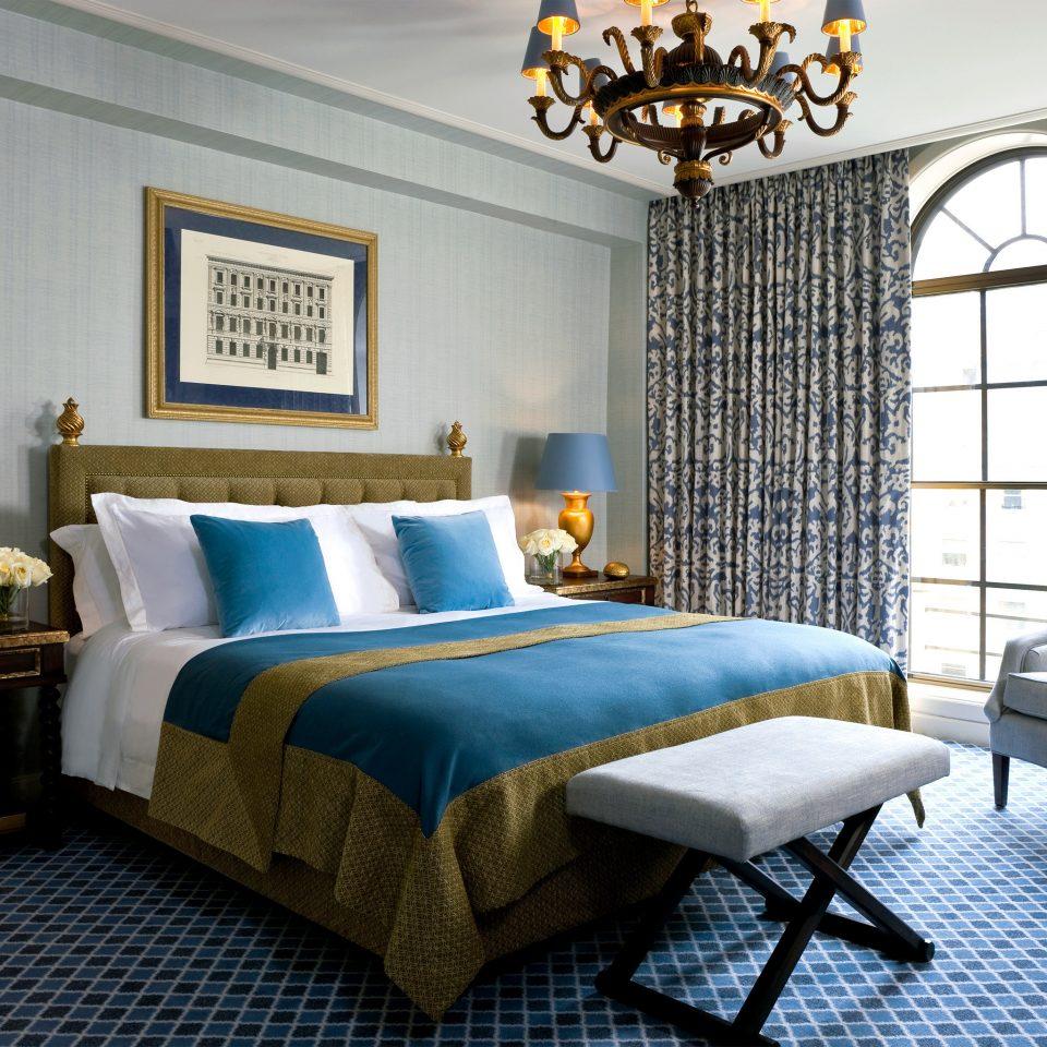 Bedroom Elegant Hip Luxury Modern Suite property living room home cottage blue bed sheet