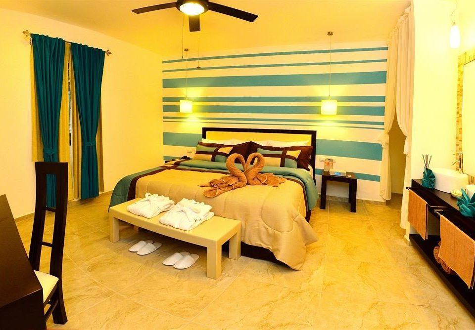 Bedroom Elegant Hip Luxury Modern Romantic Suite property scene yellow cottage Villa Resort condominium