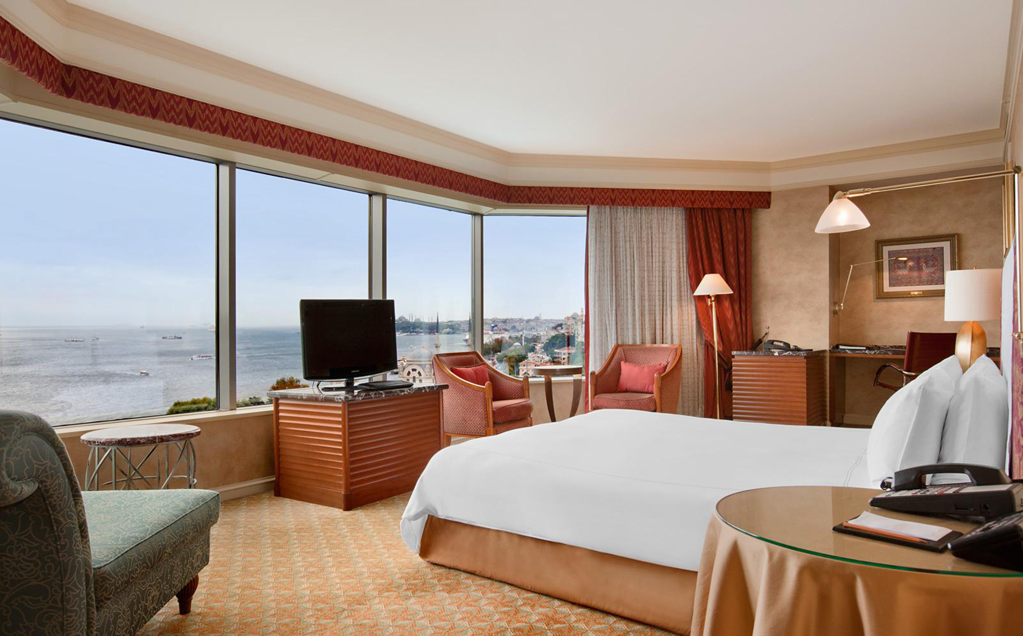 Bedroom Elegant Hip Luxury Modern Scenic views Suite chair property Resort home Villa living room cottage