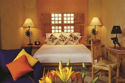 Bedroom Elegant Hip Luxury Modern Suite yellow cottage Resort lamp orange colored