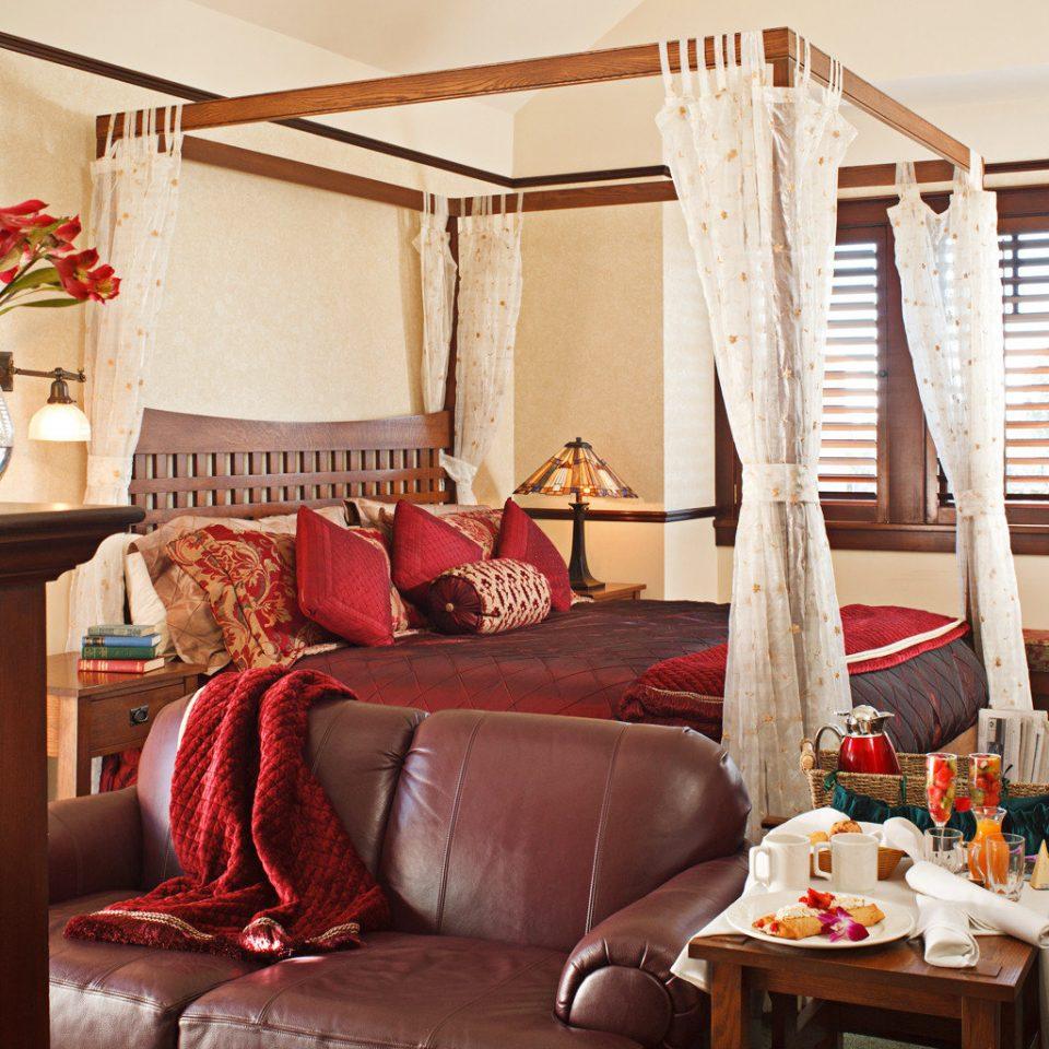 Bedroom Elegant Hip Luxury Modern Suite sofa living room property red home house cottage