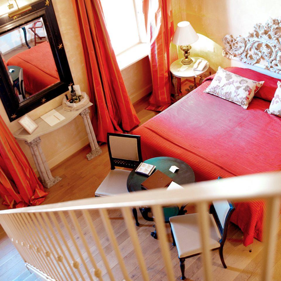 Bedroom Elegant Historic red home living room Suite cottage
