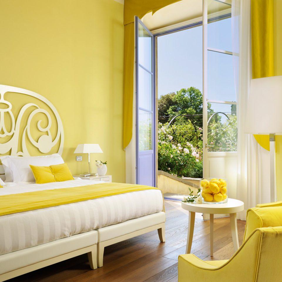 Bedroom Elegant Honeymoon Luxury Romantic Villa yellow property Suite home living room colored