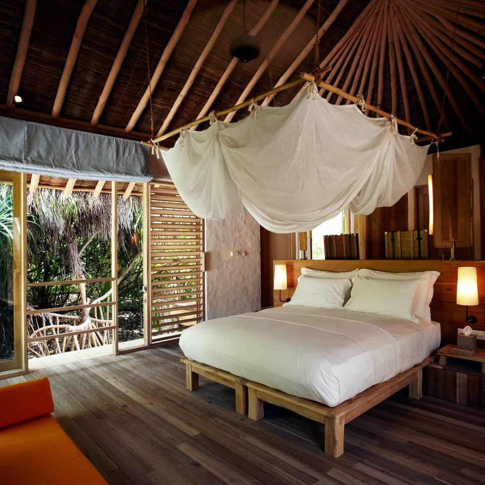Bedroom Elegant Hotels Islands Luxury Patio Scenic views Suite Trip Ideas property Resort Villa cottage eco hotel