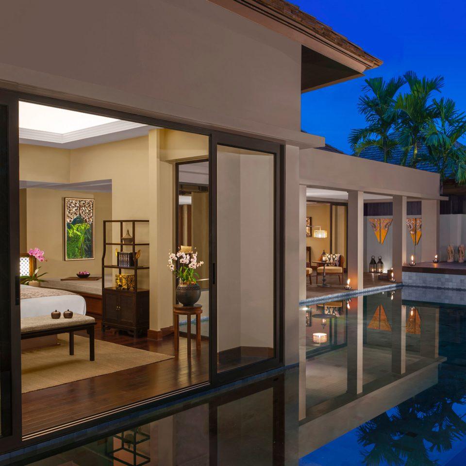 Bedroom Elegant Lounge Luxury Modern Patio Pool Suite property condominium Resort home Villa swimming pool Lobby mansion