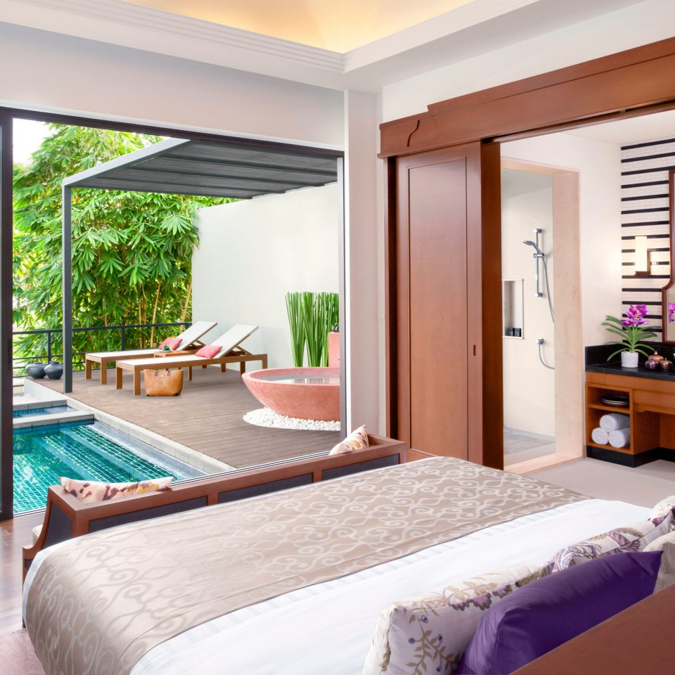Bedroom Elegant Lounge Luxury Modern Patio Pool Suite property home Resort cottage Villa condominium living room flat