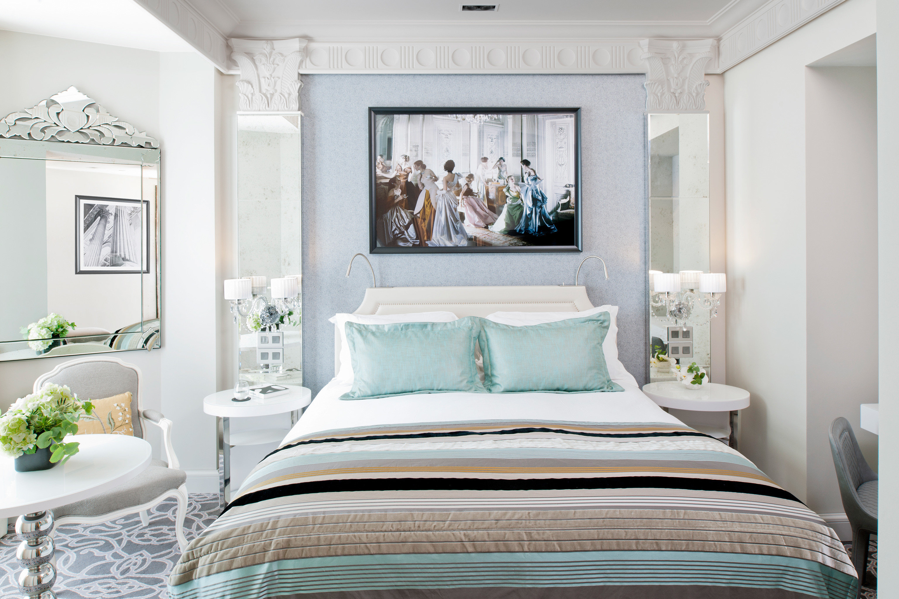 Bedroom Elegant Luxury Modern property living room green home pillow bed sheet