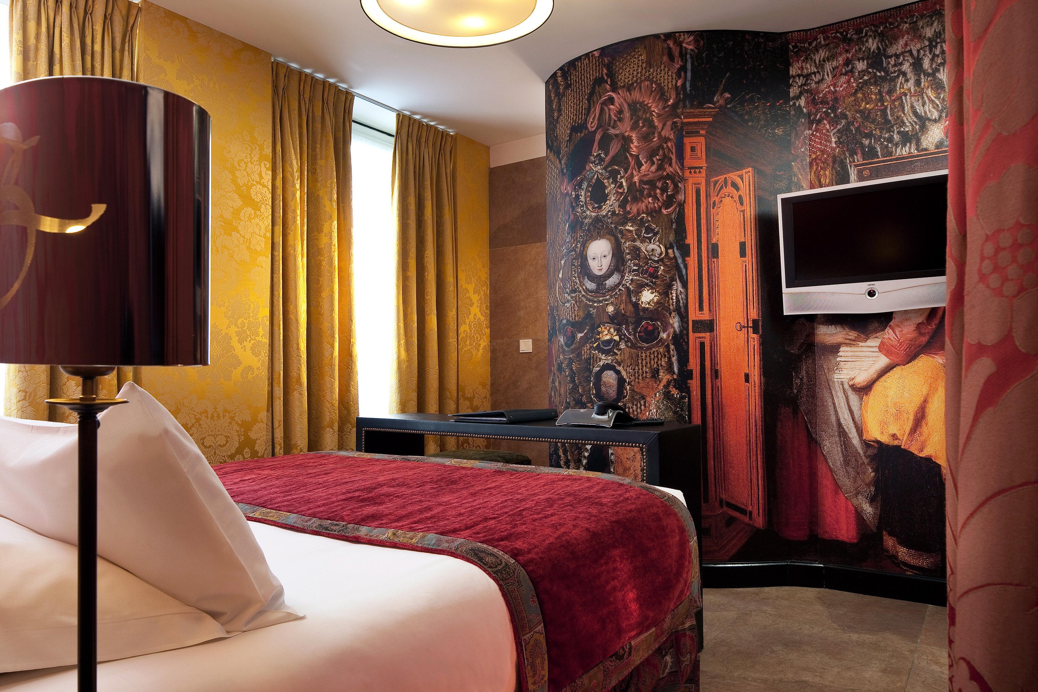 Bedroom Elegant Luxury Modern Romantic Suite red living room