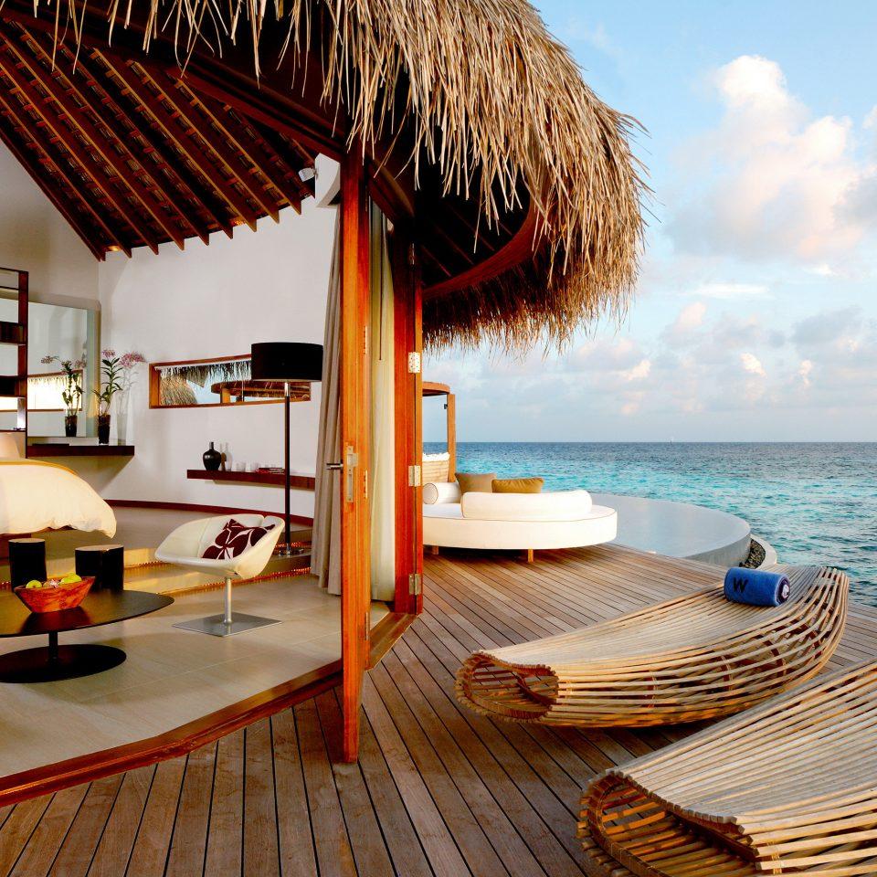 Bedroom Elegant Luxury Ocean Overwater Bungalow Suite leisure property Resort Villa caribbean