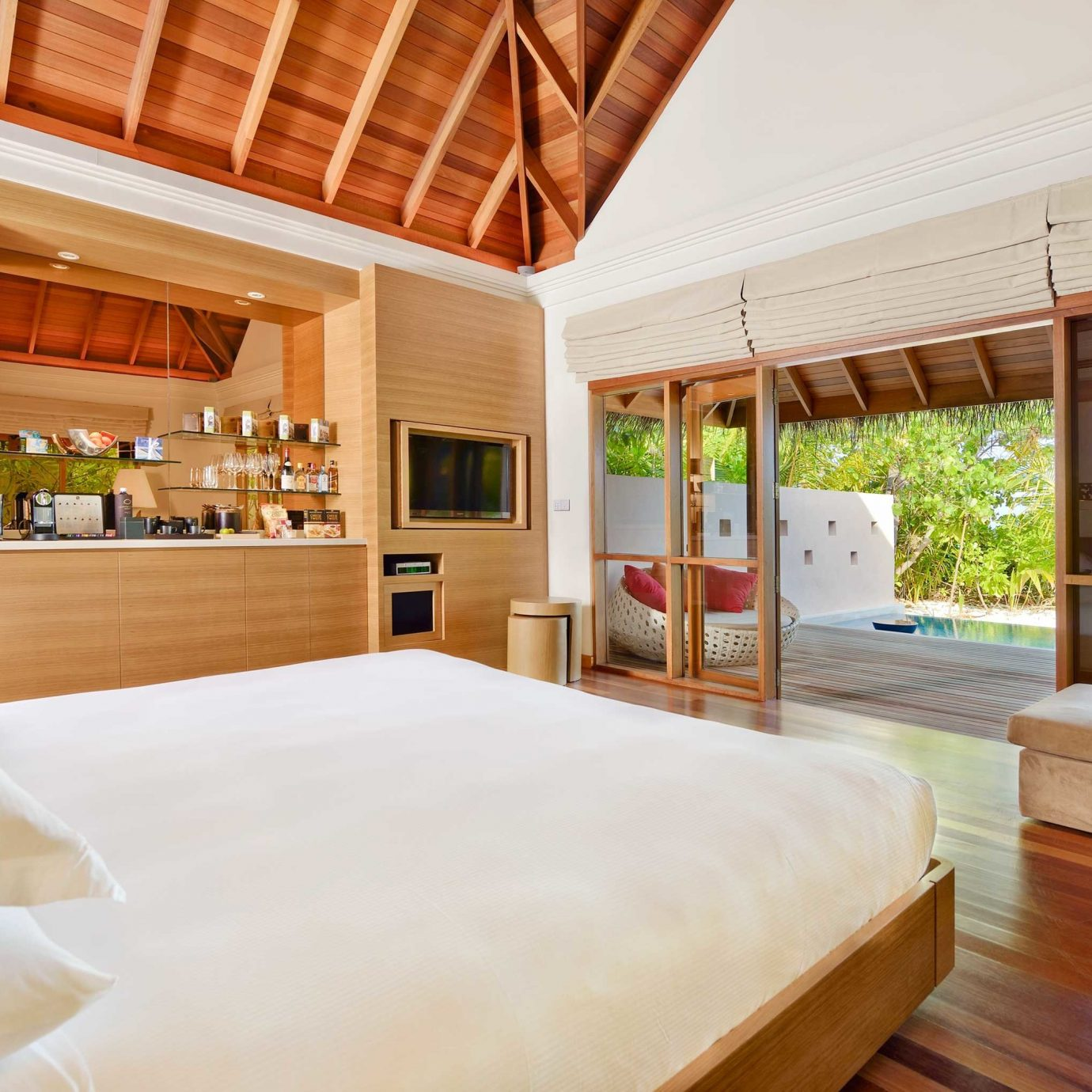 Bedroom Elegant Luxury Overwater Bungalow Scenic views Suite Villa property Resort home hardwood cottage