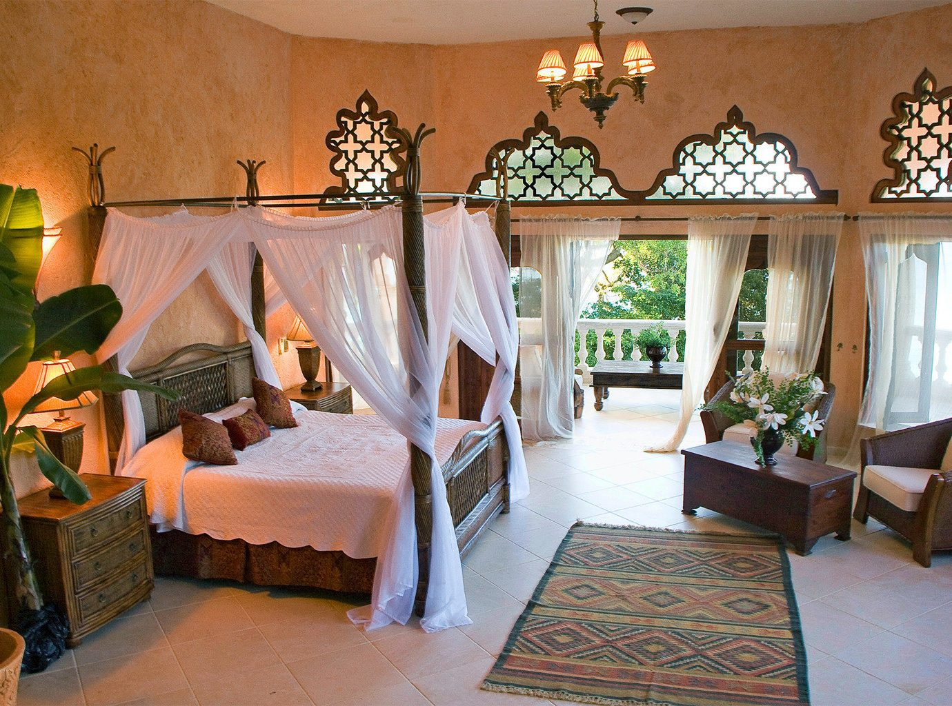 Bedroom Elegant Luxury Patio Rustic Scenic views Suite property living room house home Villa cottage Resort mansion hacienda