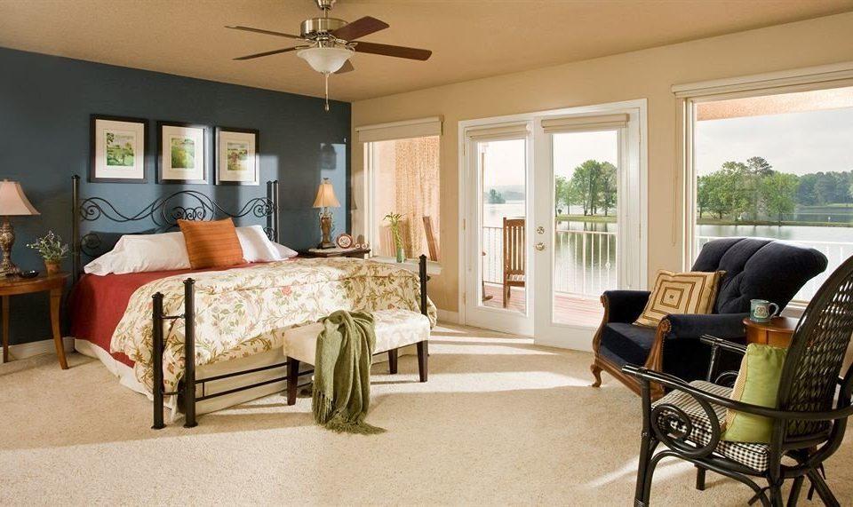Bedroom Elegant Luxury Rustic Suite sofa property living room home cottage hardwood Villa condominium farmhouse leather