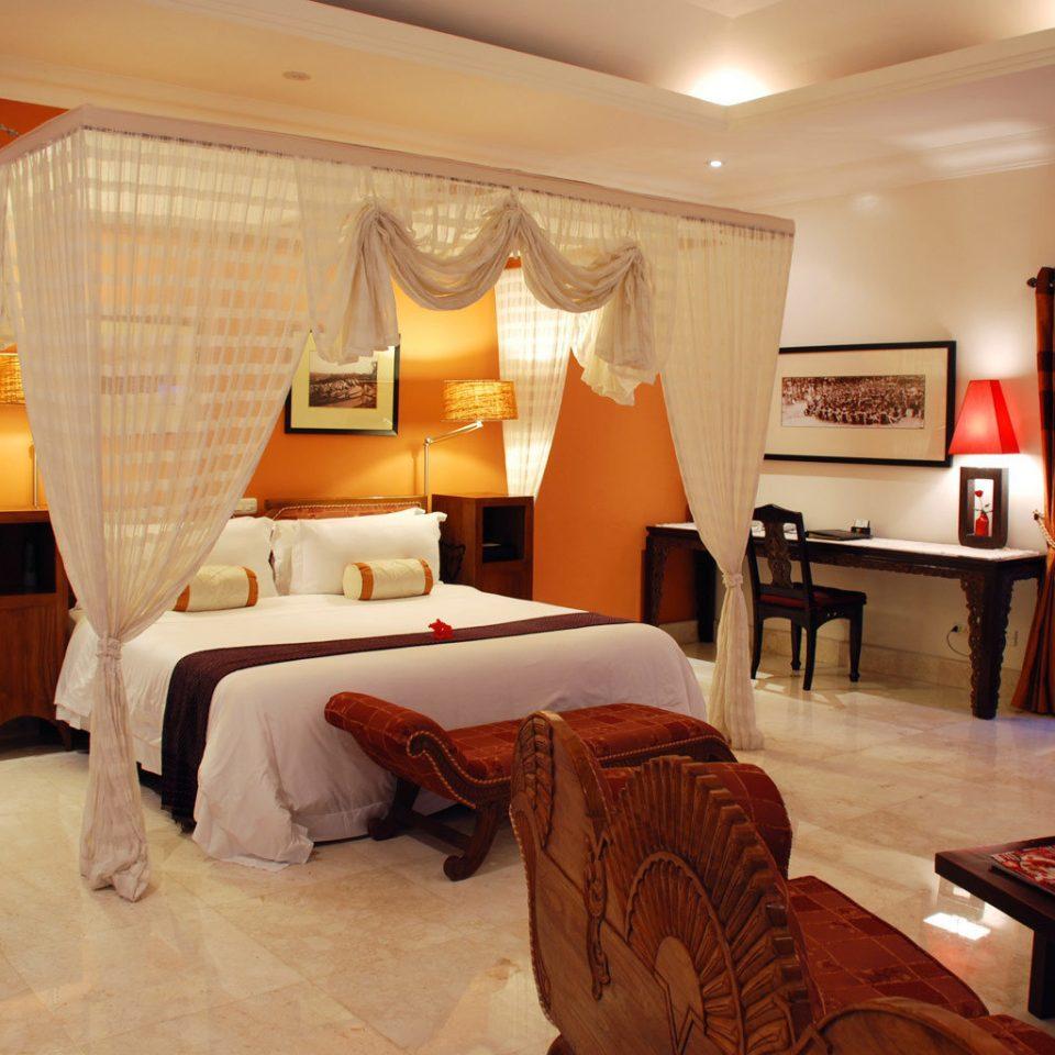 Bedroom Elegant Luxury Scenic views Suite property living room orange