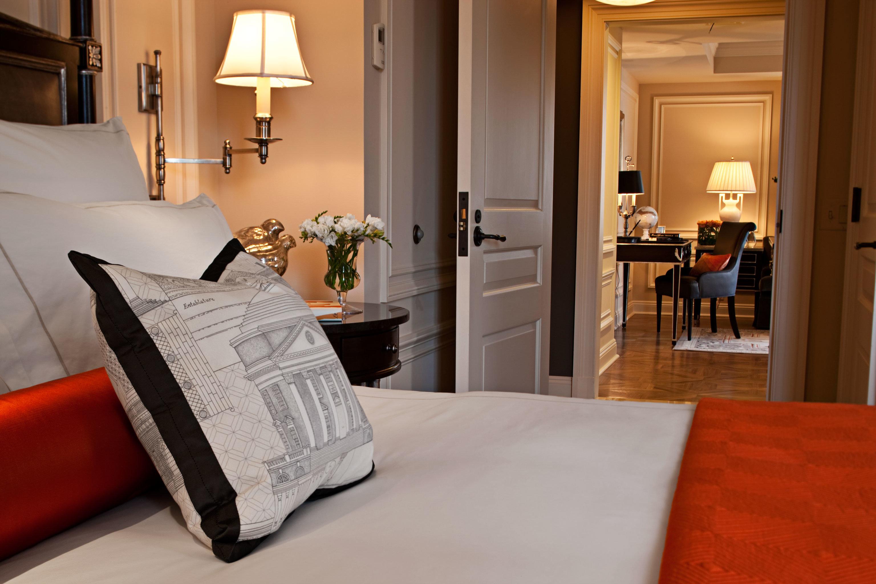 Bedroom Elegant Luxury Suite property home hardwood cottage living room pillow flooring wood flooring