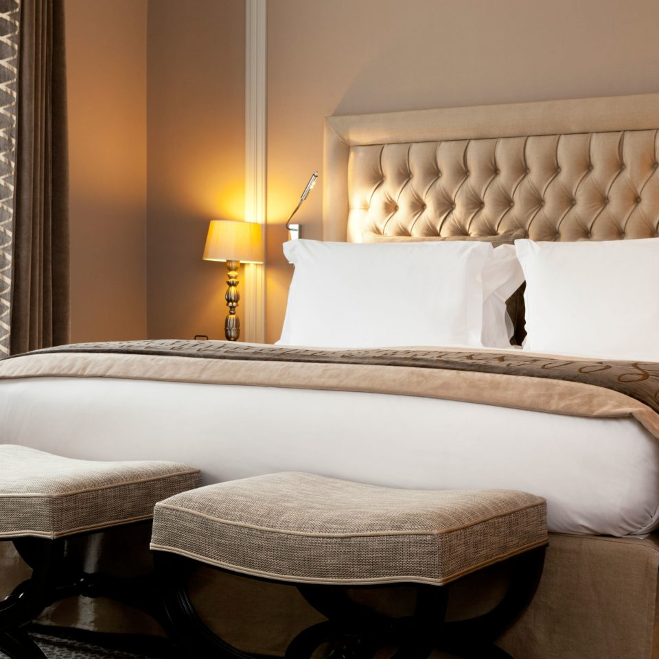 Bedroom Elegant Luxury property Suite cottage bed frame bed sheet living room tan