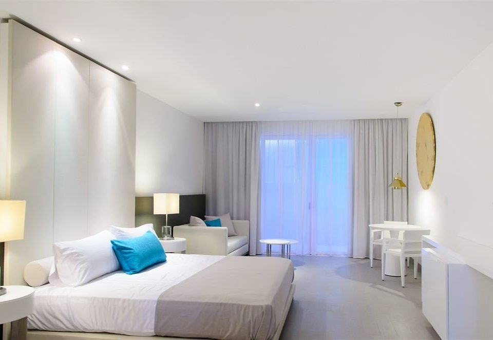 Bedroom Elegant Modern Suite property white condominium living room
