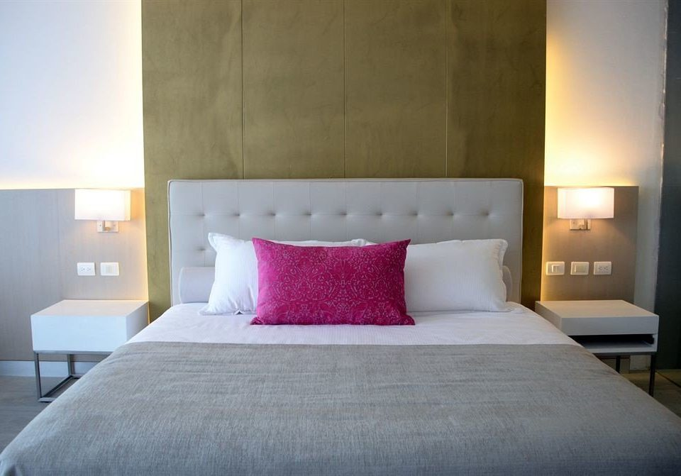 Bedroom Elegant Modern Suite property pillow red bed sheet cottage bed frame lamp