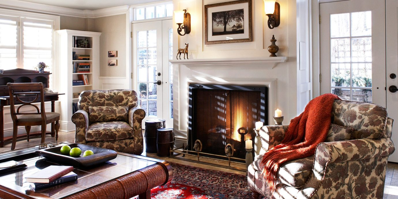 Fireplace Hotels Lobby Luxury Romance Romantic Rustic Scenic views living room property home Bedroom hardwood cottage farmhouse