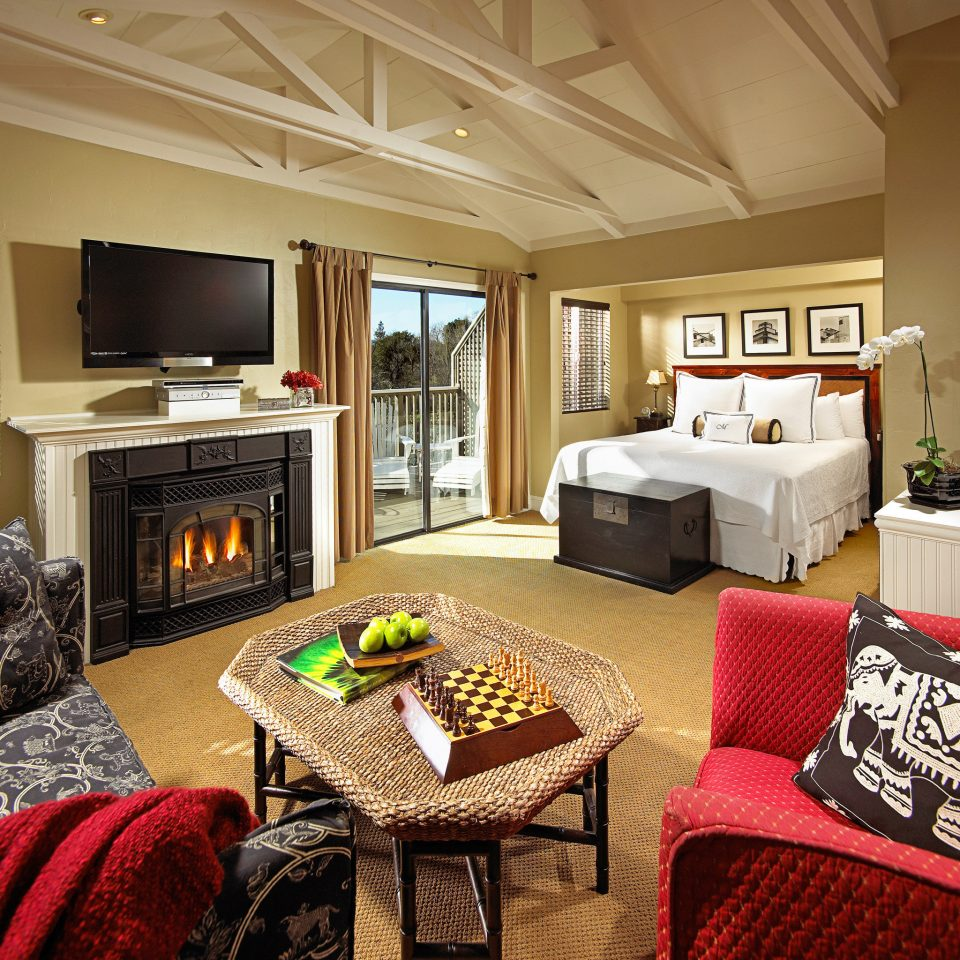 Bedroom Fireplace Inn Romance Romantic sofa property living room home red cottage Suite Villa mansion