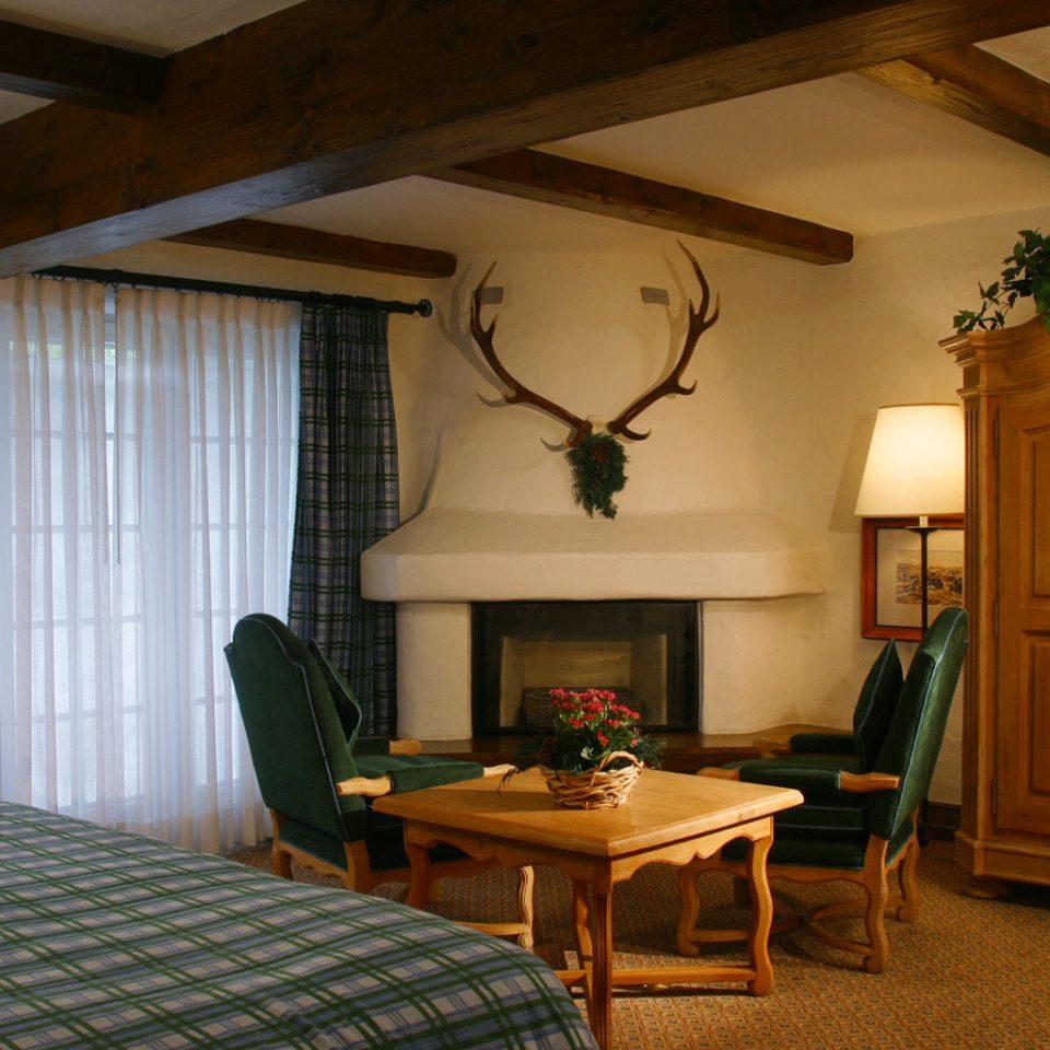 Bedroom Fireplace Resort Rustic property house home living room cottage hardwood farmhouse