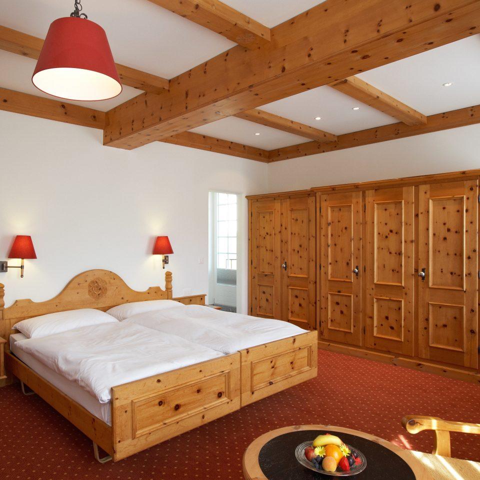Bedroom Forest Mountains Nature property wooden hardwood cottage bed frame farmhouse attic log cabin wood flooring