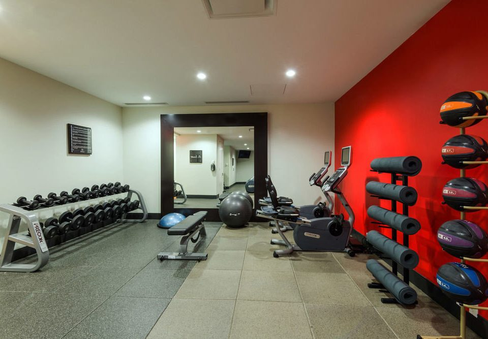 structure property sport venue gym red Bedroom