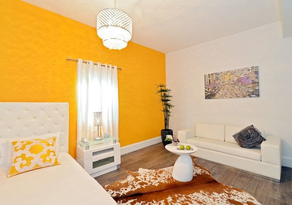 Hip Lounge Luxury Modern property Bedroom yellow home cottage Suite living room flat