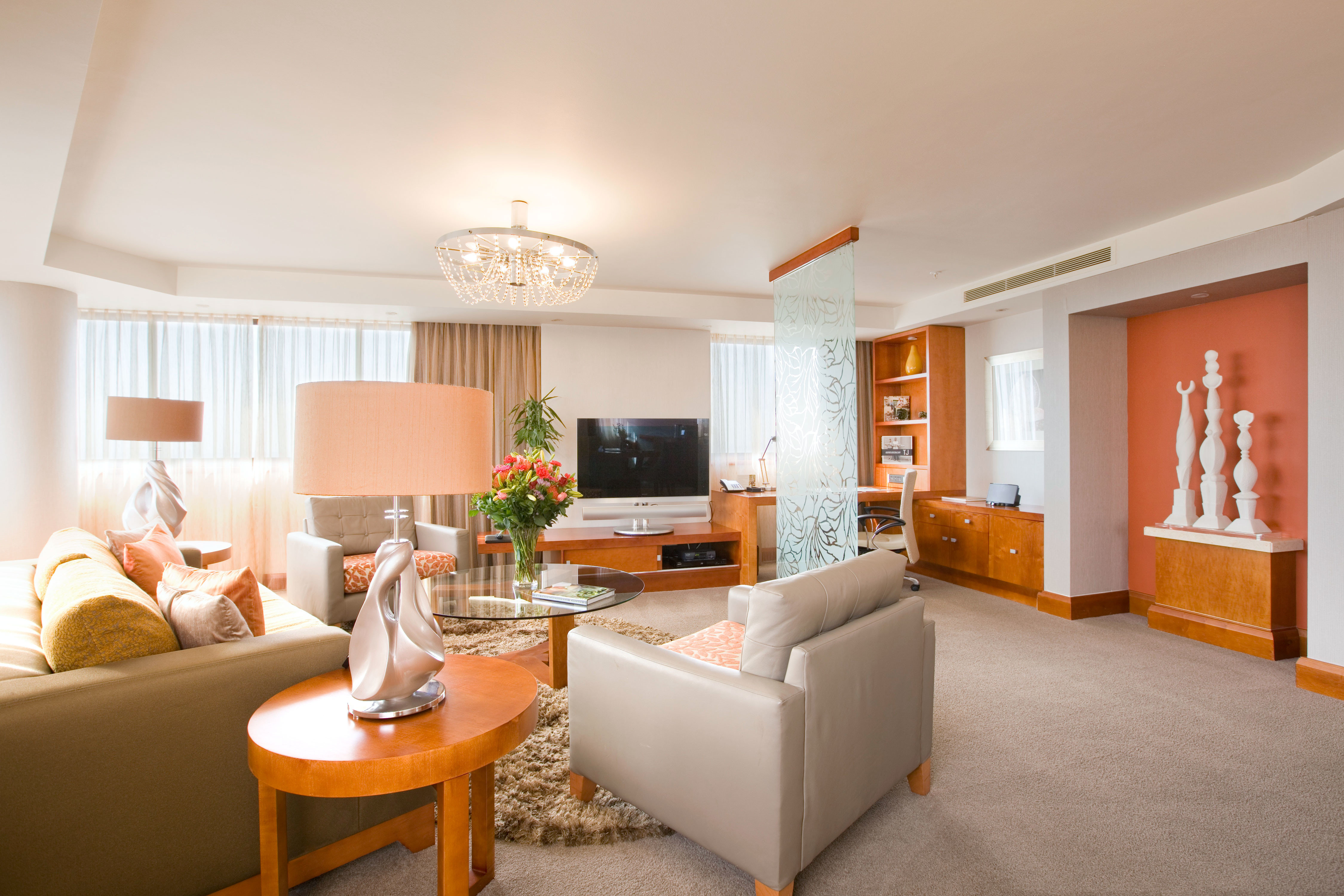 Hip Lounge Luxury Modern sofa property living room home Suite condominium cottage orange flat Bedroom