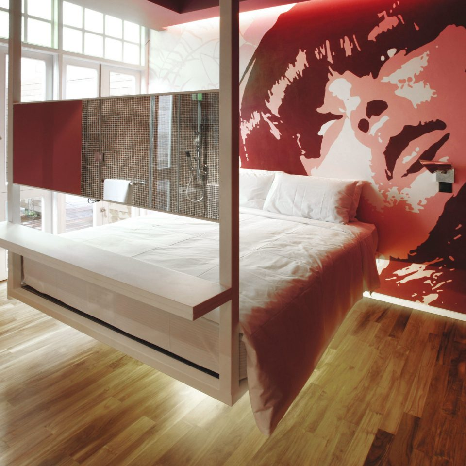 Bedroom Hip Luxury Modern Suite red building flooring home living room modern art hard