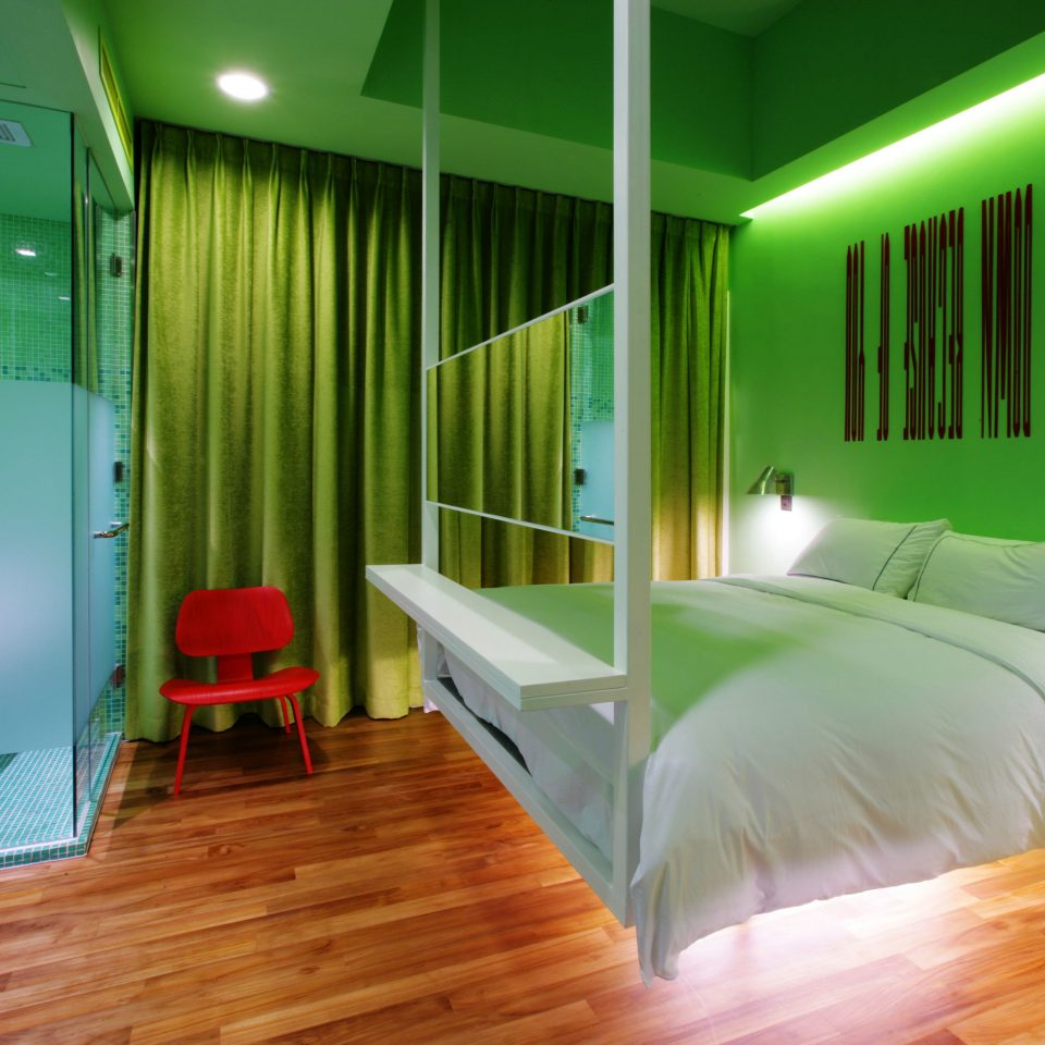 Bedroom Hip Luxury Modern Suite green property building bright colored