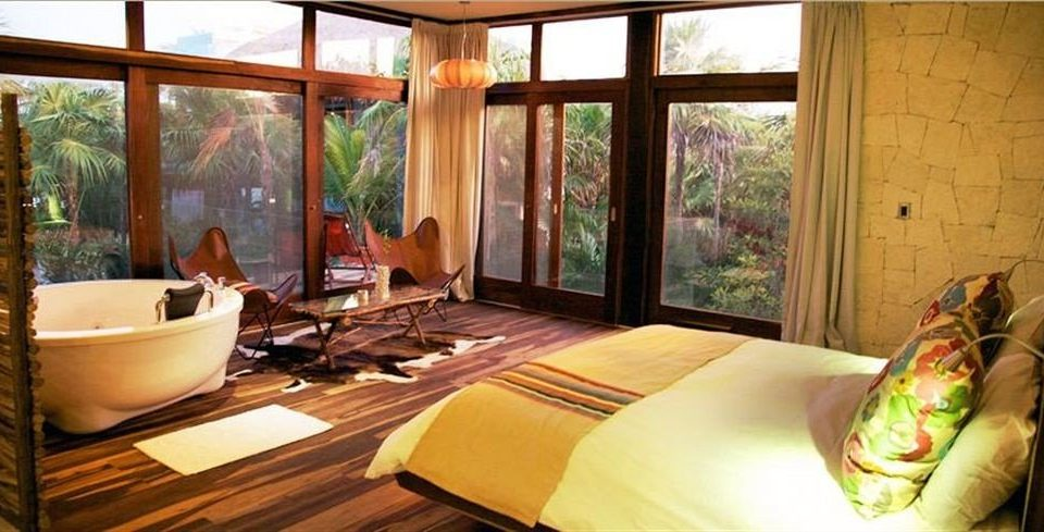 Bedroom Hip Luxury Modern Suite Tropical property Resort cottage Villa living room eco hotel