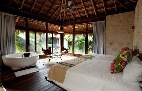 Bedroom Hip Luxury Modern Suite Tropical property Resort cottage Villa farmhouse living room