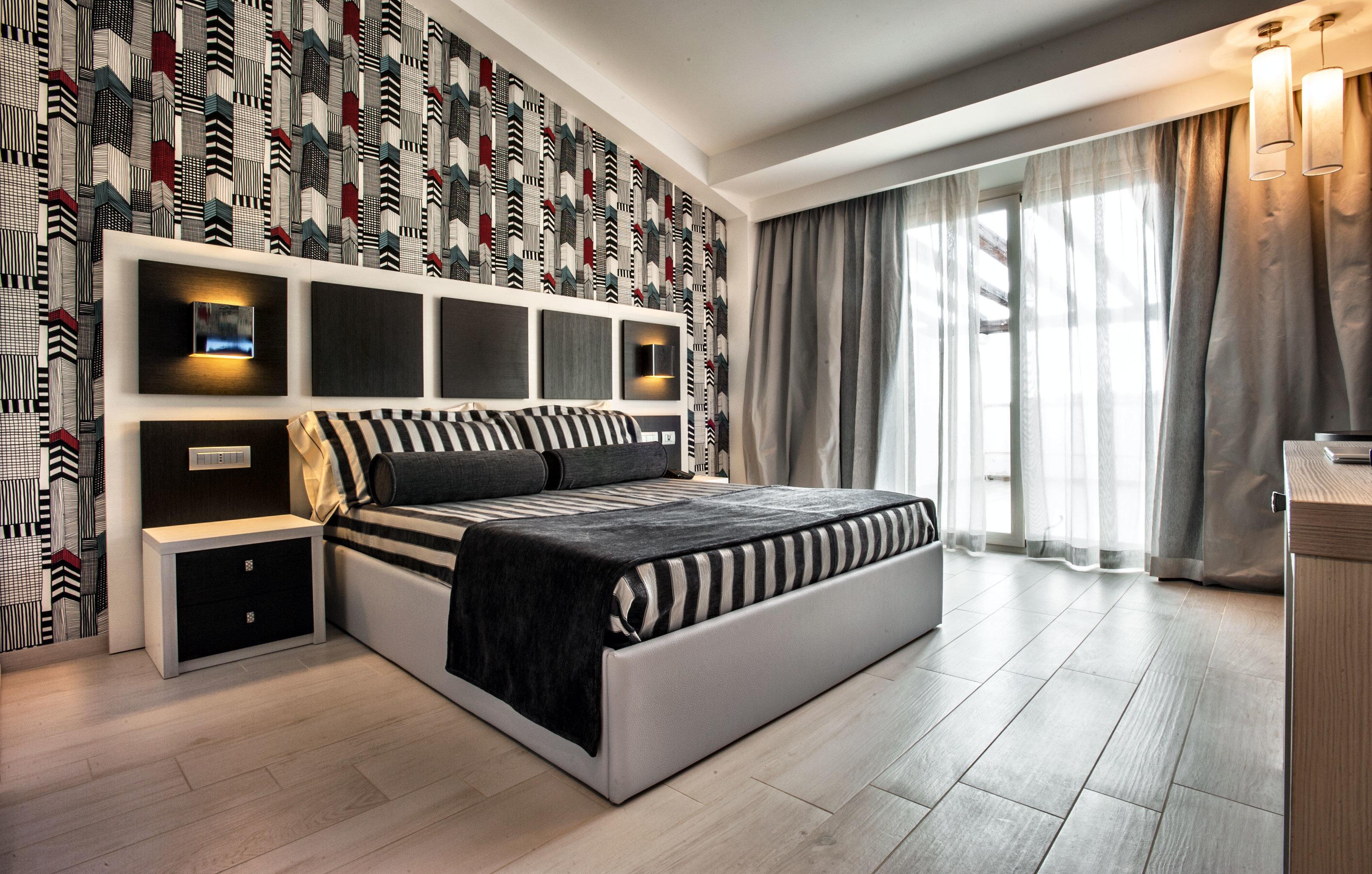 Bedroom Hip Luxury property living room home cabinetry condominium Modern