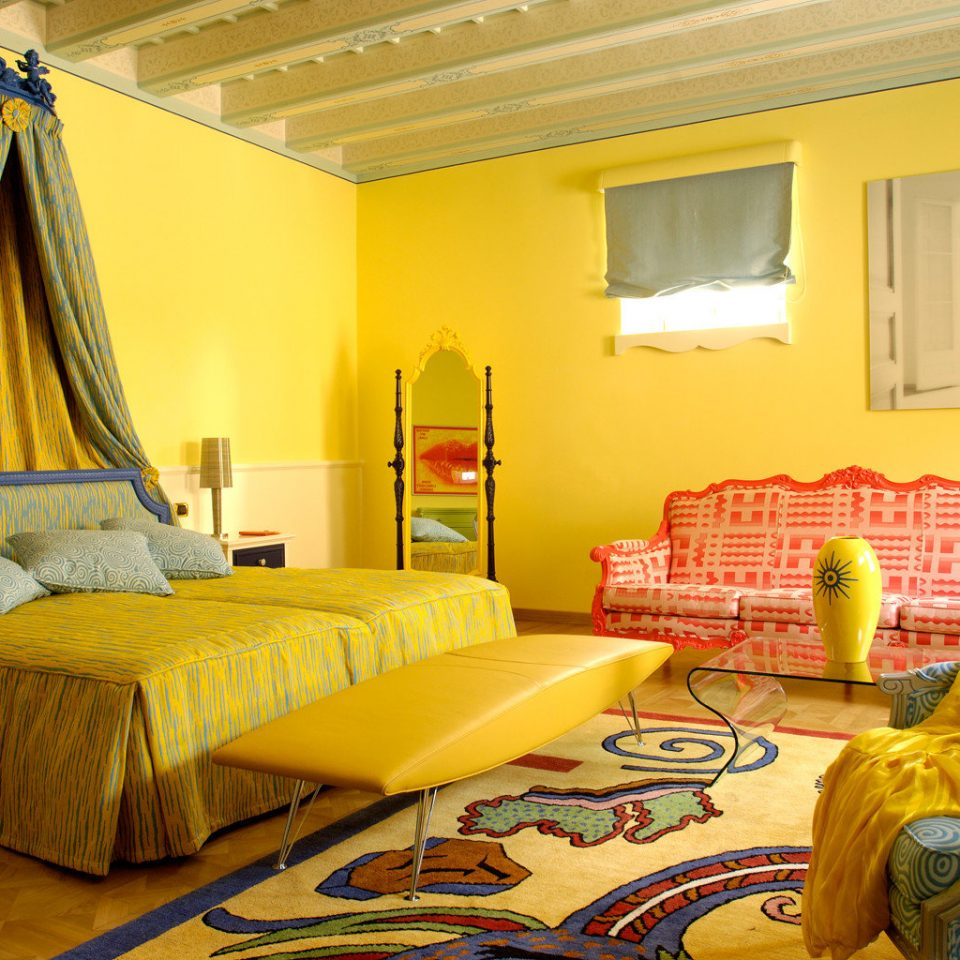 Bedroom Hip Luxury Resort yellow property living room Suite home bed sheet cottage